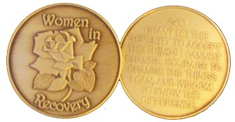 Women in Recovery AA Medallion