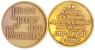 Life is a Journey Medallion